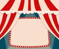 Plakatowy szablon z retro cyrkowym sztandarem Projekt dla presentatio Obraz Royalty Free