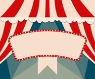 Plakatowy szablon z retro cyrkowym sztandarem Projekt dla presentatio Obrazy Royalty Free