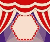 Plakatowy szablon z retro cyrkowym sztandarem Projekt dla presentatio Zdjęcia Stock