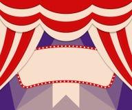 Plakatowy szablon z retro cyrkowym sztandarem Projekt dla presentatio Obraz Stock