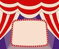 Plakatowy szablon z retro cyrkowym sztandarem Projekt dla presentatio Fotografia Royalty Free