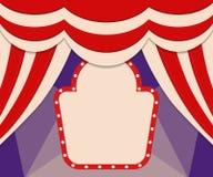 Plakatowy szablon z retro cyrkowym sztandarem Projekt dla presentatio Obrazy Stock