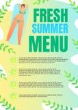 Plakatowy Wpisowy Świeży lato menu, Pisze list royalty ilustracja