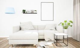 Plakatrahmen auf Wohnzimmer lizenzfreie stockfotos