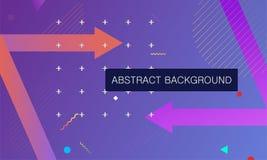 Plakatschablone mit abstrakten geometrischen Formen lizenzfreie abbildung