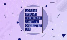 Plakatschablone mit abstrakten geometrischen Formen vektor abbildung