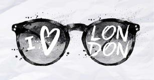 Plakatsonnenbrille London Stockfoto
