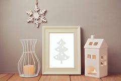 Plakatspott herauf Schablone für Weihnachten und Neujahrsfeiertag Lizenzfreies Stockbild