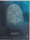 Plakatwerbung Singapore Airlines in der Zeitschrift ab Oktober 2005, im neuen und eindeutigen Slogan stockbild