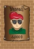 Plakaty chcieć bandyta Zdjęcia Stock