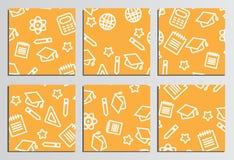 Plakaty, plakaty tylna tło do szkoły Oznakować szablon Fotografia Stock