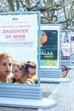 Plakaty reklamuje nadchodzących filmy podczas Berlinale 2018 zdjęcie royalty free