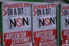 Plakaty słup Komunistyczny odrodzenie w Francja obraz stock