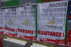 Plakaty s?up Komunistyczny odrodzenie w Francja obrazy royalty free