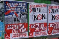 Plakaty s?up Komunistyczny odrodzenie w Francja zdjęcia stock
