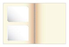 Plakboek met de vector van de fotoillustratie Royalty-vrije Stock Foto