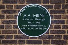 Plakette AA Milne in London Lizenzfreie Stockbilder