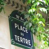 Plakettenrue Paris lizenzfreies stockfoto