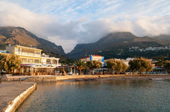 Plakias bay in the morning sun shine Stock Images