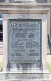 Plakieta przy Wschodnią szkołą średnią Memphis, Tennessee Obrazy Stock