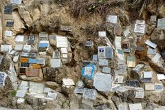 Plakiety przy Lasu Lajas katedrą obrazy stock