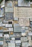 Plakiety przy Lasu Lajas katedr? zdjęcie stock