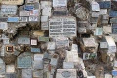 Plakiety przy Lasu Lajas katedr? obraz royalty free