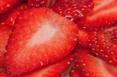 Plakken van aardbeien Royalty-vrije Stock Afbeelding