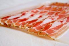 Plakken van bacon Stock Foto's