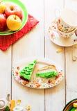 Plakken van cake Royalty-vrije Stock Fotografie