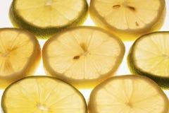 Plakken van citroen en kalk Royalty-vrije Stock Afbeelding