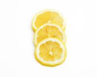 Plakken van citroenfruit Stock Foto