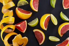 Plakken van citrusvruchten stock foto