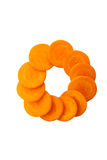 Oranje wortel Royalty-vrije Stock Foto's