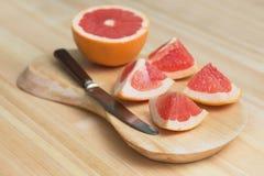 Plakken van grapefruit Stock Fotografie