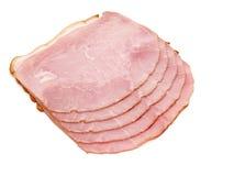 Plakken van heerlijke ham stock afbeeldingen