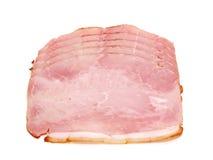 Plakken van heerlijke ham stock afbeelding