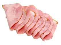 Plakken van heerlijke ham stock foto