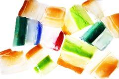 Plakken van ijs met afwisselende kleuren Stock Foto