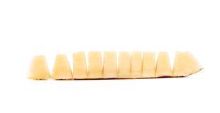 Plakken van meloen die in stukken worden gesneden. Royalty-vrije Stock Afbeelding