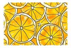 Plakken van sinaasappel vector illustratie