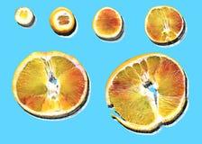Plakken van sinaasappel met ontbonden schaduw Royalty-vrije Stock Foto's