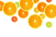 Plakken van Sinaasappelen Stock Foto