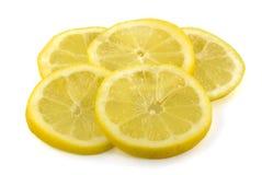 Plakken van verse citroen Royalty-vrije Stock Afbeeldingen