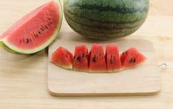 Plakken van watermeloen Stock Afbeeldingen