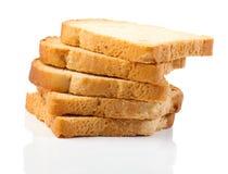Plakken van wit brood royalty-vrije stock afbeeldingen