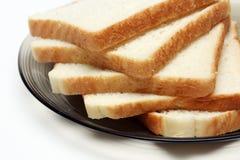 Plakken van Wit brood royalty-vrije stock afbeelding