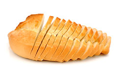Plakken van wit brood stock foto's