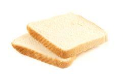 Plakken van wit brood Royalty-vrije Stock Foto