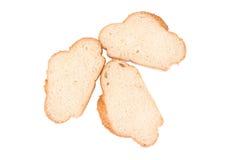 Plakken van wit brood met sesamzaden Royalty-vrije Stock Foto's